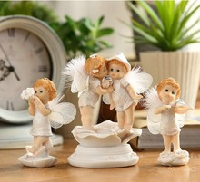 Фотография 7 Design Europe Style Lifelike Resin Fairy Angle Figurine Children Room Decoration Home Decor Crafts DEC088