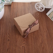 Kraft paper gift box Pure color Fashion sock Candy Bow tie festival Small bag custom made wholesale 12pcs/set