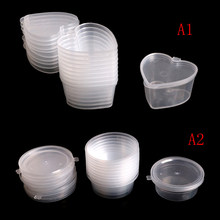 Plastic Color Plasticine Clear Containers Glue Putty Foam Ball Storage Boxes 25ml /30ml Slime Storage 10pcs/lot(China)