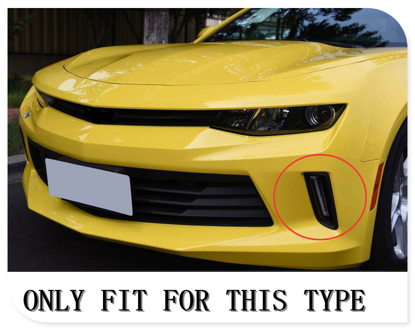 Blue 2pcs/set Car Drl Daytime Running Lights Cover Trim For Chevrolet Camaro 2016 2017 Chromium Styling Be Shrewd In Money Matters Glossy Red