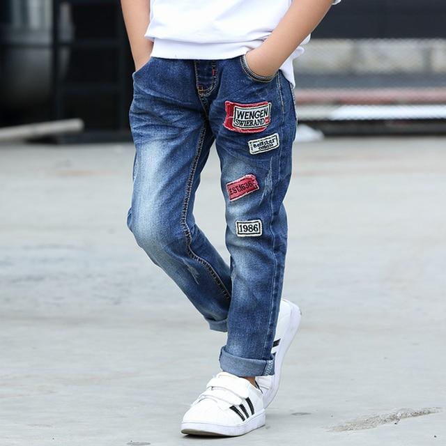 Boys Clothing 2018 New Autumn Children Denim Pants Kids Trousers Fashion Gun Cotton Pencil Pants Cotton Leggings Baby Wild Jeans Boys Jeans
