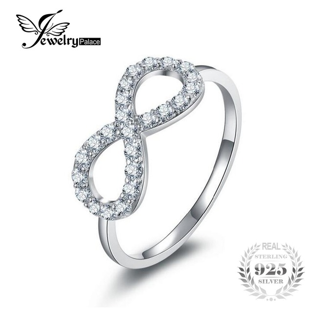 94f7f3b31 JewelryPalace Infinity Knot Love Genuine 925 Sterling Silver Wedding Band  Engagement Ring New Fine Jewelry For Women