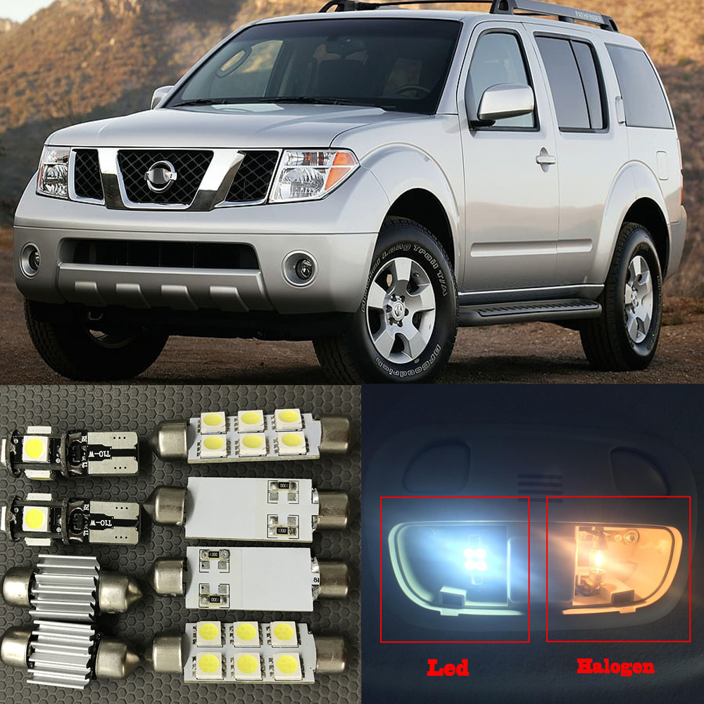 12pcs 6000K White LED Light Bulbs For 2005-2012 Nissan Pathfinder Interior Package Kit Dome Map Led License Plate Lamp