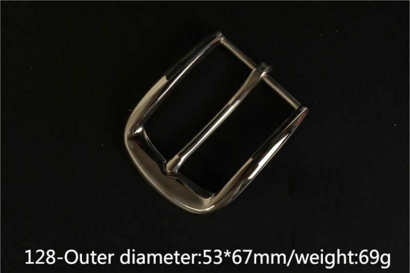 Meetee 1pc 40 ミリメートル高-グレードステンレス鋼ベルトバックル金属ミラーピンバックル DIY レザークラフトジーンズ装飾アクセサリー BD532