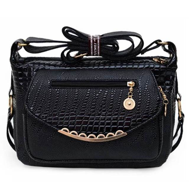 Stone Print Casual Women Bags 2017 Popular Small Women Messenger Bags Women Leather Shoulder Bags bolsa feminina SA047