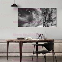 Large Poster Vintage Landscape Picture for Living Room Office Home Decor Retro Black and White Artwork Canvas Print Dropshipping