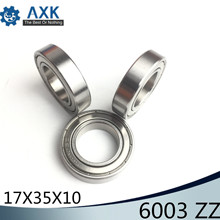 6003ZZ Bearing 17*35*10 mm ABEC-3 ( 6 PCS ) For Blower Vacuums Saw Trimmer Deep Groove 6003 Z ZZ Ball Bearings 6003Z цена и фото