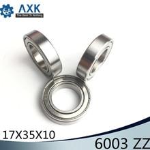 6003ZZ Bearing 17*35*10 mm ABEC-3 ( 6 PCS ) For Blower Vacuums Saw Trimmer Deep Groove 6003 Z ZZ Ball Bearings 6003Z 5203 zz bearing 17 x 40 x 17 5 mm 1 pc axial double row angular contact 5203zz 3203 zz 3056203 ball bearings