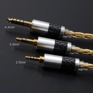 Image 5 - NICEHCK wysokiej jakości 8 rdzeń pojedyncze miedziane z kryształami posrebrzany kabel 3.5/2.5/4.4mm MMCX/2Pin dla LZ A7 KXXS TFZ NICEHCK NX7 MK3