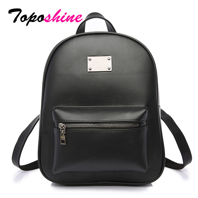 Toposhine 2018 New Arrival Women Backpacks Good Quality School Bag For Teenage Girls PU Leather Fashion Women Backpacks T-1742 chu jj new arrival genuine leather women backpacks fashion backpacks for girls casual travel women school bag