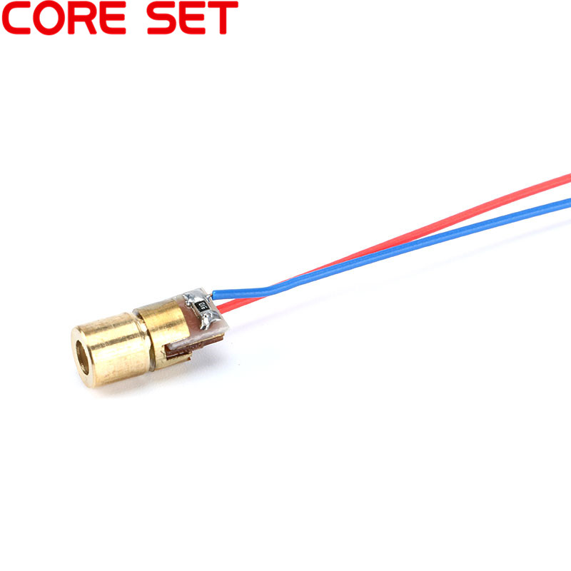 Image 3 - 10pcs Laser Diode Red Point Adjustable Laser Dot Diode Module Red Copper Head 650nm 6mm 3/5V 5mW-in Woodworking Machinery Parts from Tools