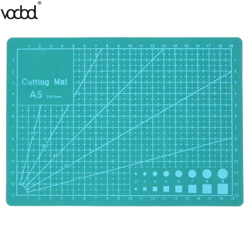 PVC A5 PVC Cutting Mat Self-healing Recovery Cutting Pad Grid Line DIY Craft Patchwork Tools Cut Board Tools for Fabric Paper a2 mint green pvc cutting mat self healing cutting mat patchwork tools craft cutting board cutting mats for quilting