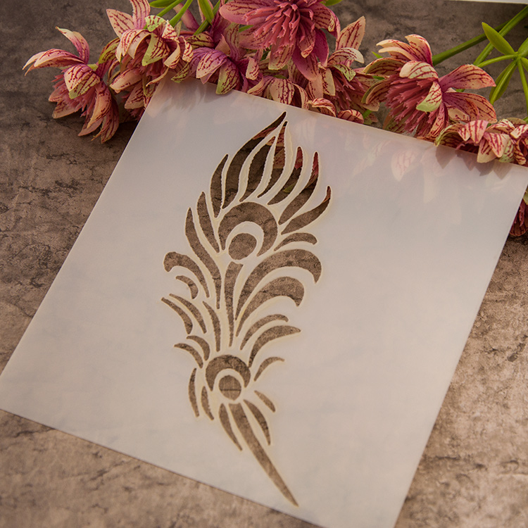 Online Get Cheap Wall Stencil Feathers Aliexpresscom Alibaba Group