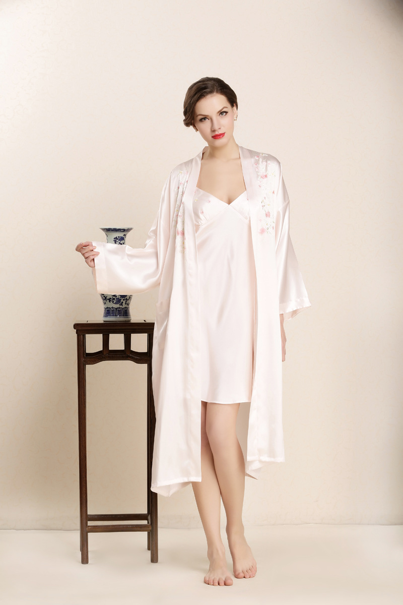 ⓪2018 Nightgown Sets for Womens Robe + Gown 2Pcs Ladies 100% Real ...