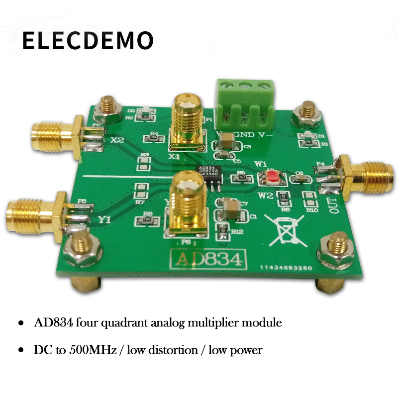 AD834 Four Quadrant Multiplier Module Signal Conditioning Power Control Double Frequency Multiplier 500MHz-in Demo Board Accessories from Computer & Office