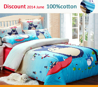 3d Cute Totoro 100 Cotton Bed Sets Quilt Comforter Cover
