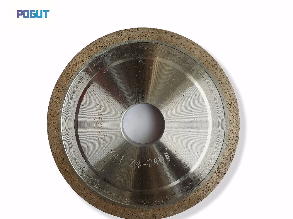 Diamond Grinding Wheel For Glass 150*22*3, 4, 5, 6, 8, 10, 12, 15, 19mm ,150 Grit straight edge diamond wheel for glass metal bond abrasive wheels for glass ceramic edging and beveling hole 22mm grit 150 m008
