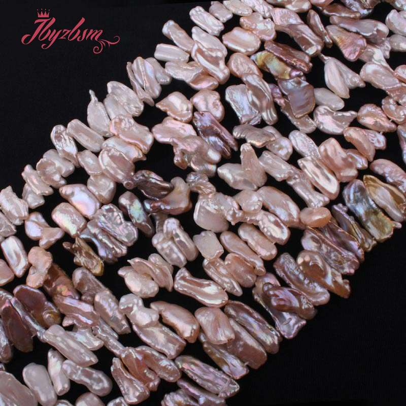 5x10 10x15mm TOP Drill Biwa Irregular Freshwater Pearl Natural Stone Beads For DIY Necklace Jewelry Making 15 Free Shipping