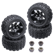 4Pcs 2.2 inches RC 1/10 Wheels & Tires For Off Road Monster Truck 4WD Fit HSP Redcat HPI Racing