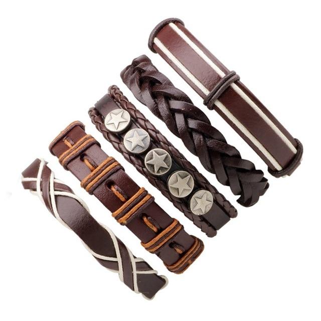 1Set Multilayer Leather Bracelets Mawgie