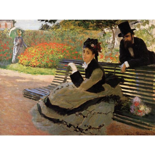 Camille Monet On A Garden Bench Of Claude Monet Art Oil Paintings Canvas  Reproduction Hand