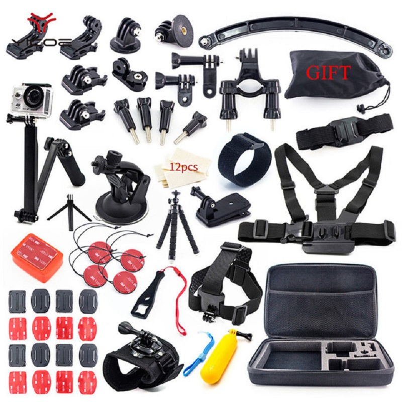 Sport Camera Kit Tripod Mount Selfie Stick for Gopro Accessories Go Pro Hero Session 6 5 4 3 SJCAM SJ4 SJ6 SJ7 Xiao yi 4k mijia akaso 3 way grip waterproof monopod selfie stick for gopro hero 5 4 3 session ek7000 xiaomi yi 4k camera tripod go pro accessory
