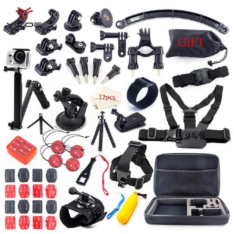 Sport Camera Kit Tripod Mount Selfie Stick for Gopro Accessories Go Pro Hero Session 6 5 4 3 SJCAM SJ4 SJ6 SJ7 Xiao yi 4k mijia