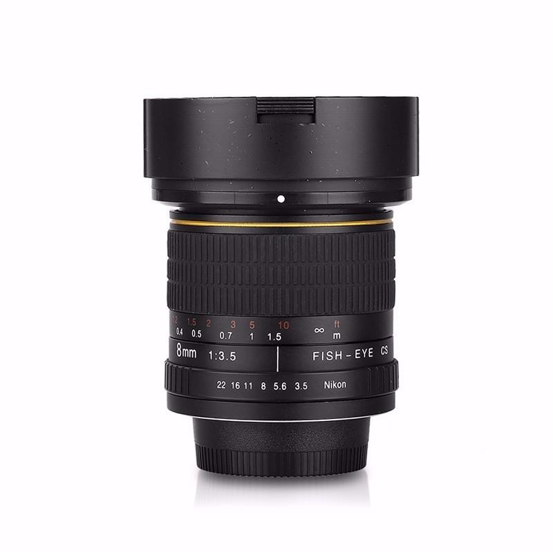 8mm F/3.5 Ultra Wide Angle Fisheye Lens for APS C/ Full Frame Canon ...
