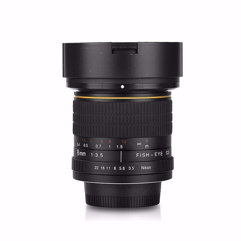 8mm F/3.5 Ultra Wide Angle Fisheye Lens for APS-C/ Full Frame Canon EOS 10D 760D 750D 700D 70D 60D 7D 6D 5D2 5D3 DSLR Camera 10