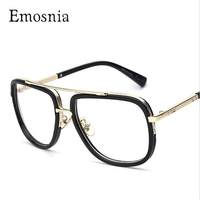 f2ed18ff US $8.46 23% OFF|Emosnia 2017 Men Transparent Clear Sun Glasses Big Square  Frame Brand Designer Vintage Mens Sunglasses Goggle Classic Eyewear-in ...