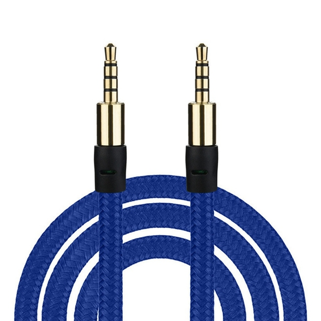3.5mm Male To Male Stereo Audio Jack Aux Auxiliary Cable For Phone MP3 Music Player in Car