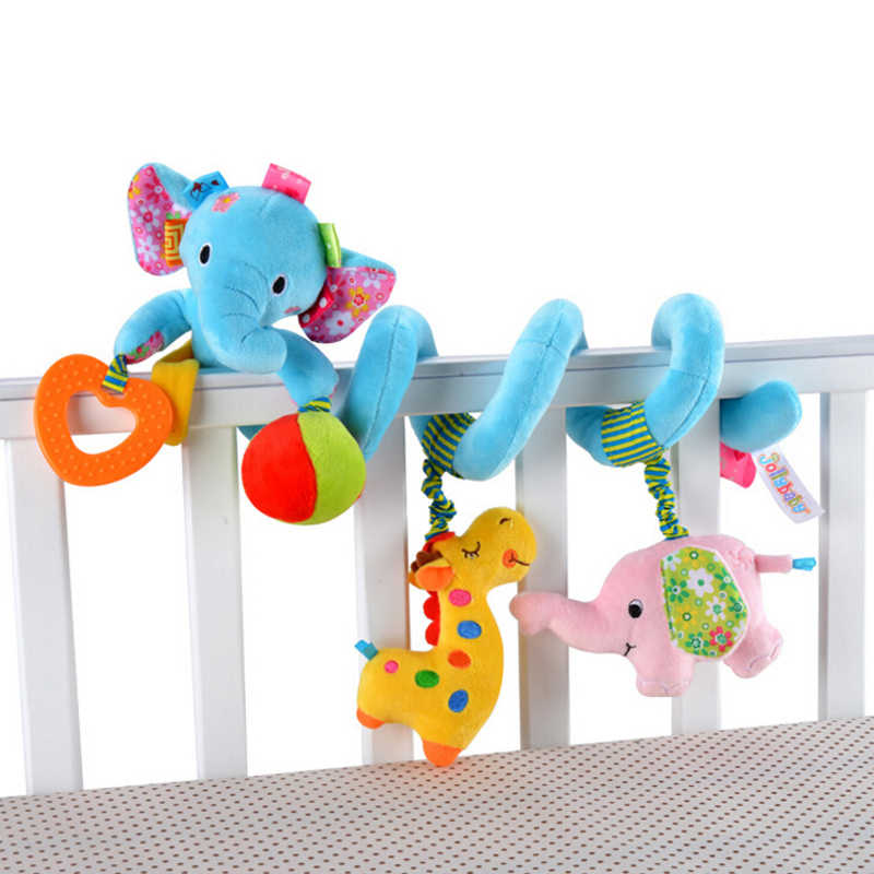 Early Development Soft เด็กทารกรถเข็นเด็กของเล่น Spiral ของเล่นเด็กทารกสำหรับทารกแรกเกิดรถแขวน Bebe Bell Rattle ของเล่นสำหรับของขวัญ