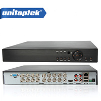 16Ch 1080P CCTV DVR NVR HVR Support 5 IN 1 AHD CVI TVI CVBS IP Camera