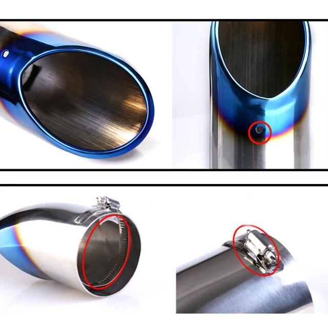 Silencieux arrière en acier inoxydable   Rond arrière, embout, queue de tuyau pour X-trail Carola Fit ST Cruze Focus 2 3 MK4 1 pièce