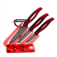 XYj Brand High Grade 3 4 5 Black Blade Zirconia Ceramic Knfe Set ABS TPR Handle