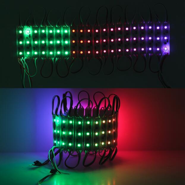 WS2801 IC 5050*3 SMD 5050 3 LED S Pixels rvb contrôlables numériquement LED lumière de Module de Pixel imperméable DC12V