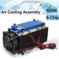 DIY 12 V 420 W 6-чип полупроводниковое охлаждение охлаждающее устройство Термоэлектрический охладитель воздуха кондиционирования высокая эффек...