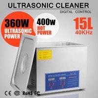 Líquido de limpeza ultrassônico de aço inoxidável 15l com custo de transporte barato de alta qualidade para você