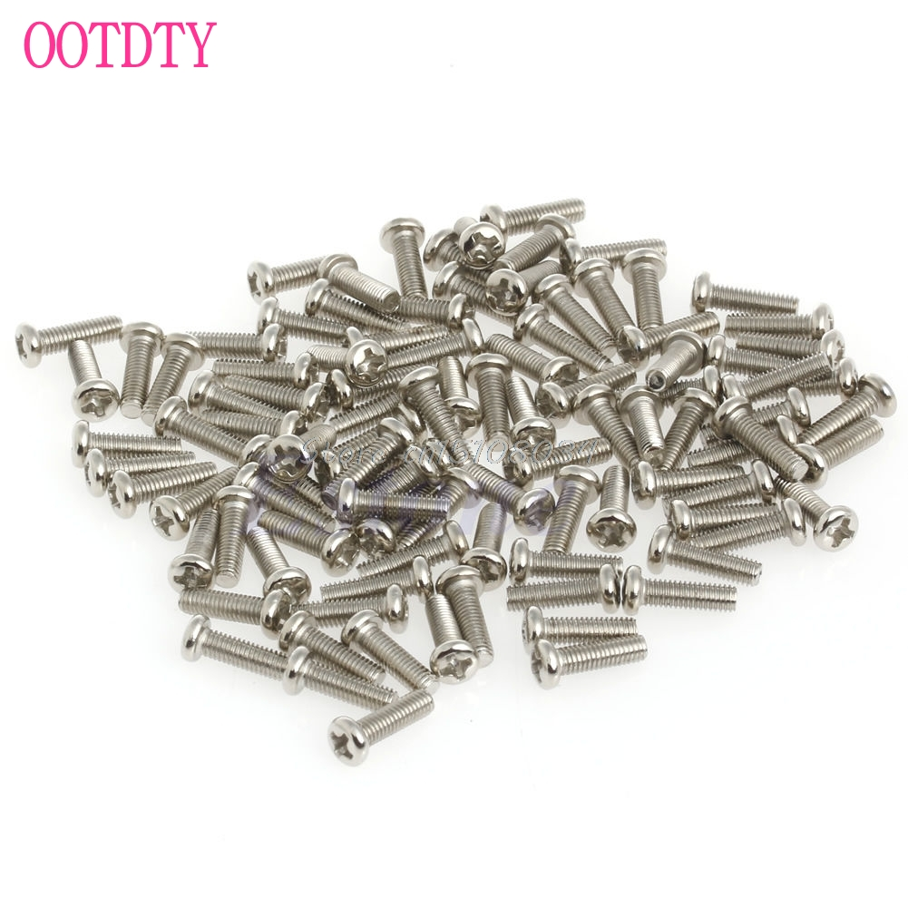 100Pcs Metric M3 x 10mm Phillips Pan Head Screws Stainless Steel #S018Y# High Quality a81 2016 newest 100pcs metric m3x5mm phillips pan head screw for 2 5 hdd ssd dvd rom motherboard free shipping