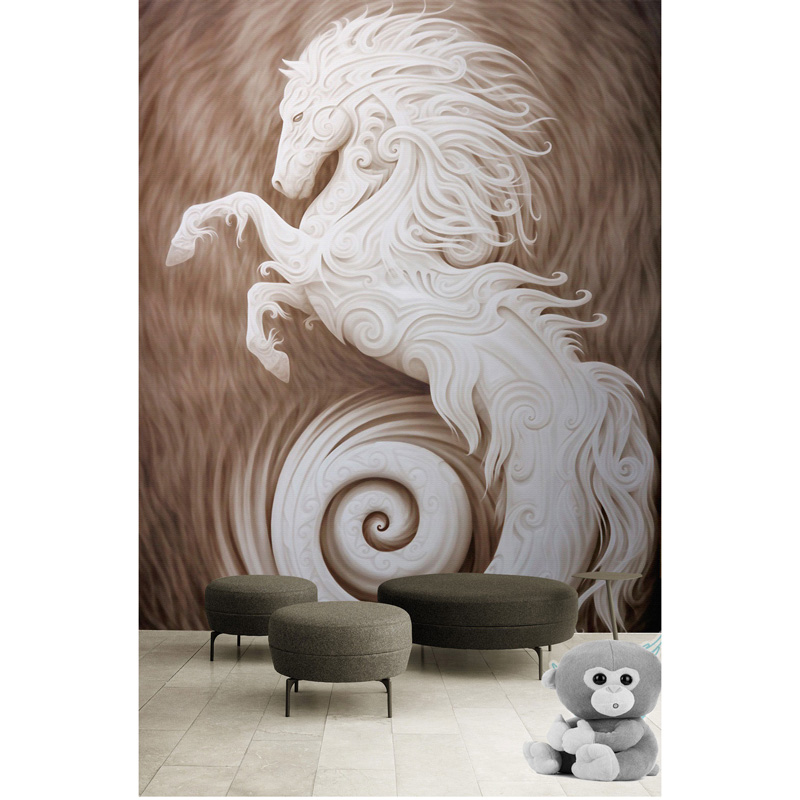 White Horse Wall Painting 3D Living Room Bedroom Wall Papers Home Decor Wallcovering Murals Self Adhesive Vinyl  Silk Wallpaper