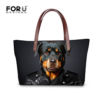 Fashion Casual Animal Printing Shoulder Bag For Women Dog Head Large Women Handbag Ladies Travel Bolsas