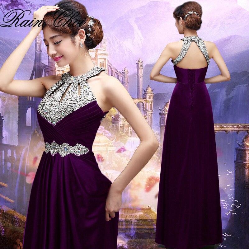 Vestido De Noite Floor-length  A Line Formal Prom Party Gowns Sexy Long Evening Dress 2019
