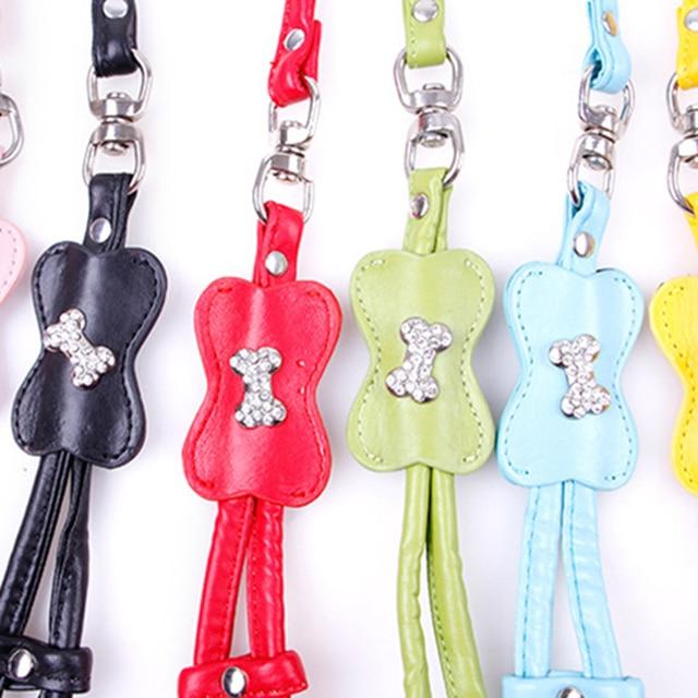 Cute Diamond Dog Harness Vest Bling Large Set Pets Leash Rope Pink Training Harnais Chien Halter Dog Lead Accessories 50M0412