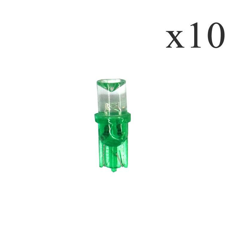 10Pcs T8 W5W 194 LED 12V 0 5W 3000K Car LED auto instrument Light Green Light for Moto sports Free transportation in Signal Lamp from Automobiles Motorcycles