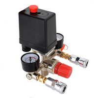Air Pressure Manifold Switch Gauge Control Regulator Compressor Universal Professional 90 120PSI New High Quality