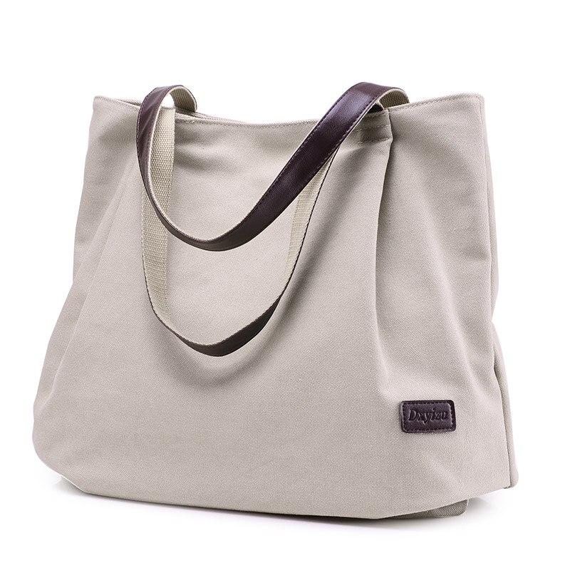 Bolsa de asas de lona de moda bolso de las mujeres bolsas de hombro - Bolsos - foto 2