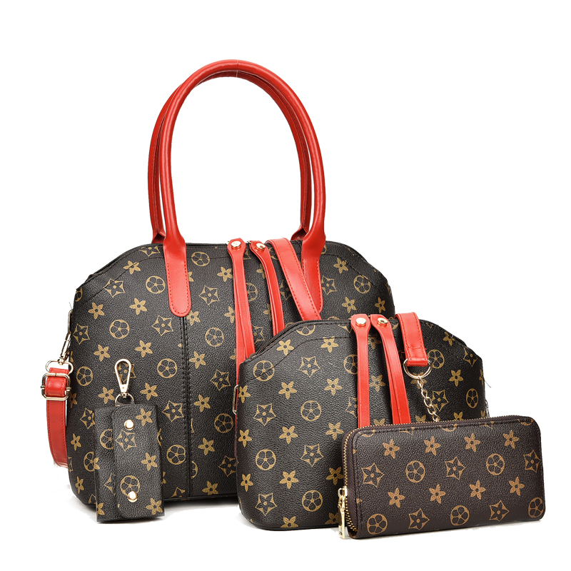 Luxury Women Bag Desiger Handbag Set Large Artificial Leather Tote Female Shoulder Cross ...