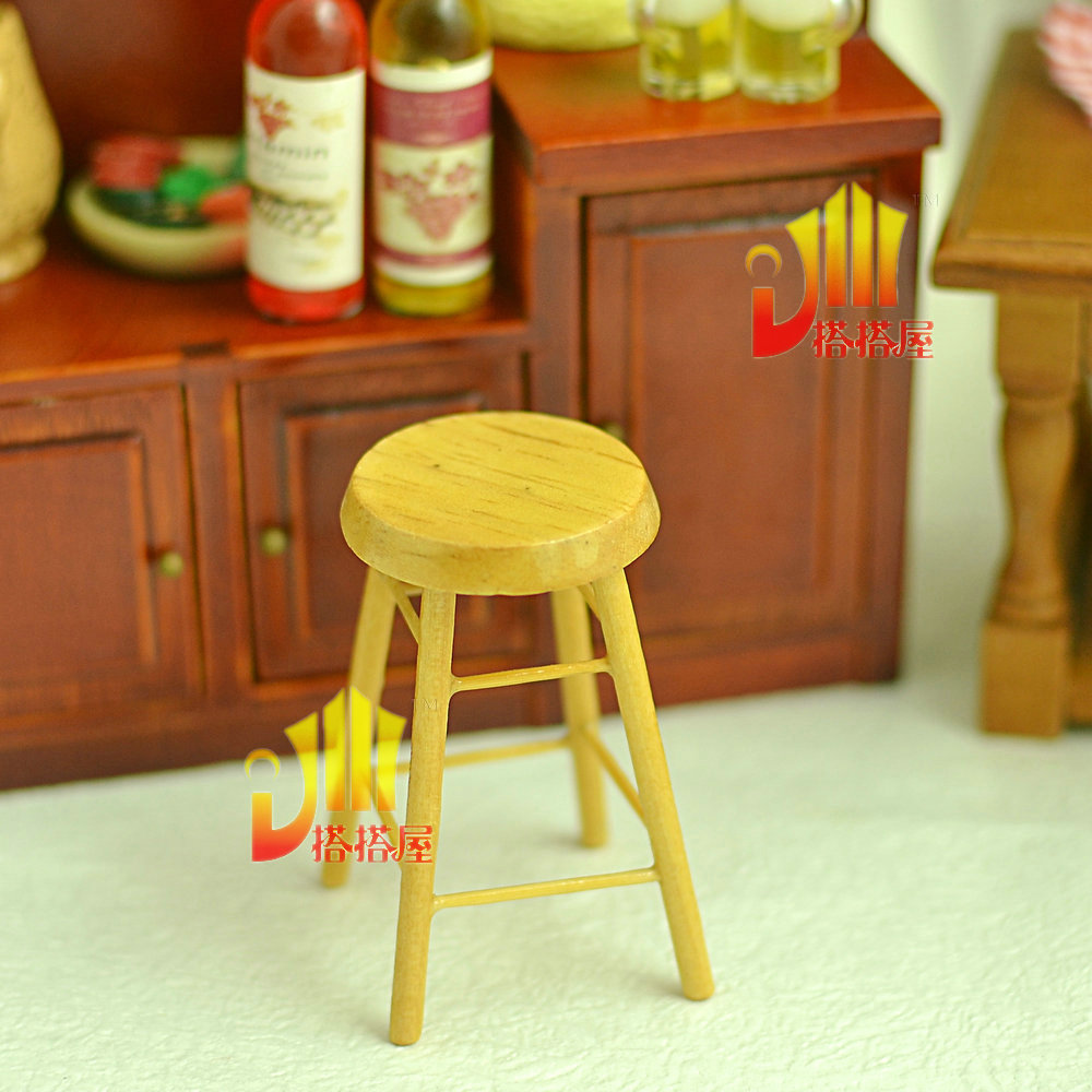 Mini Dollhouse Simulation of the bar stool chair graduation design model material