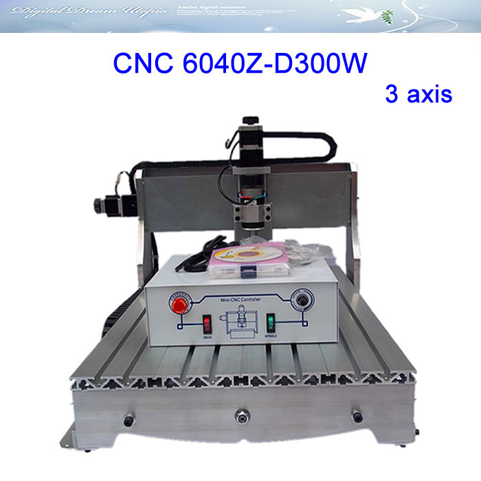 Russia no tax CNC 6040Z-D300 engraving machine, CNC router/ milling machine,CNC 6040Z-D300W for cutting wood, acrylics,MDF cnc 5axis a aixs rotary axis t chuck type for cnc router cnc milling machine best quality