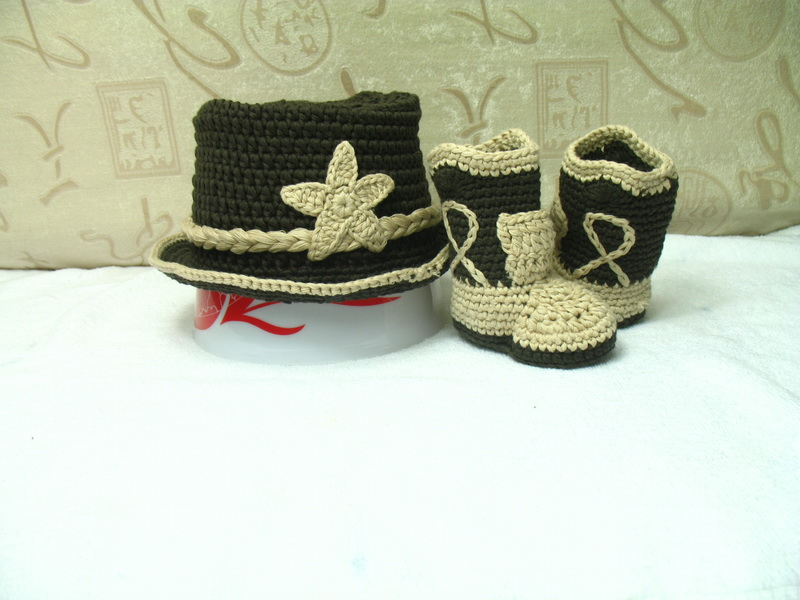 Free Shipping New Handmade Crochet Baby Cowboy Hat Cap Baby Hat